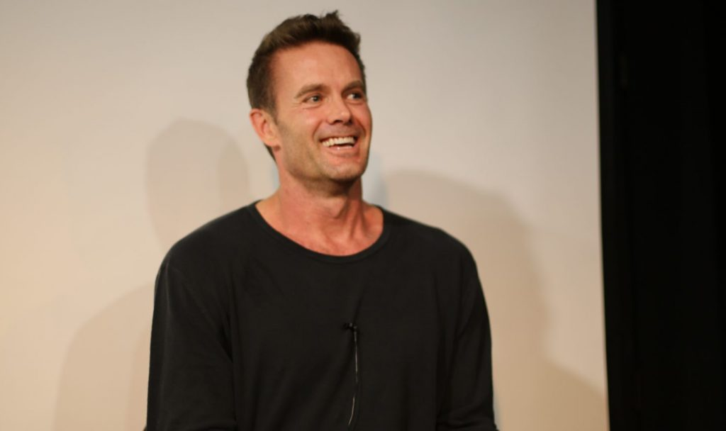 Photograph of Garret Dillahunt at his VIP Lecture Series