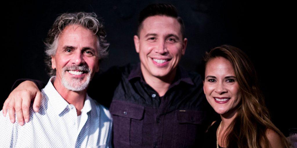 Photograph of Jim Jarrett, Erik Palladino, and Melissa Thompson Esaia